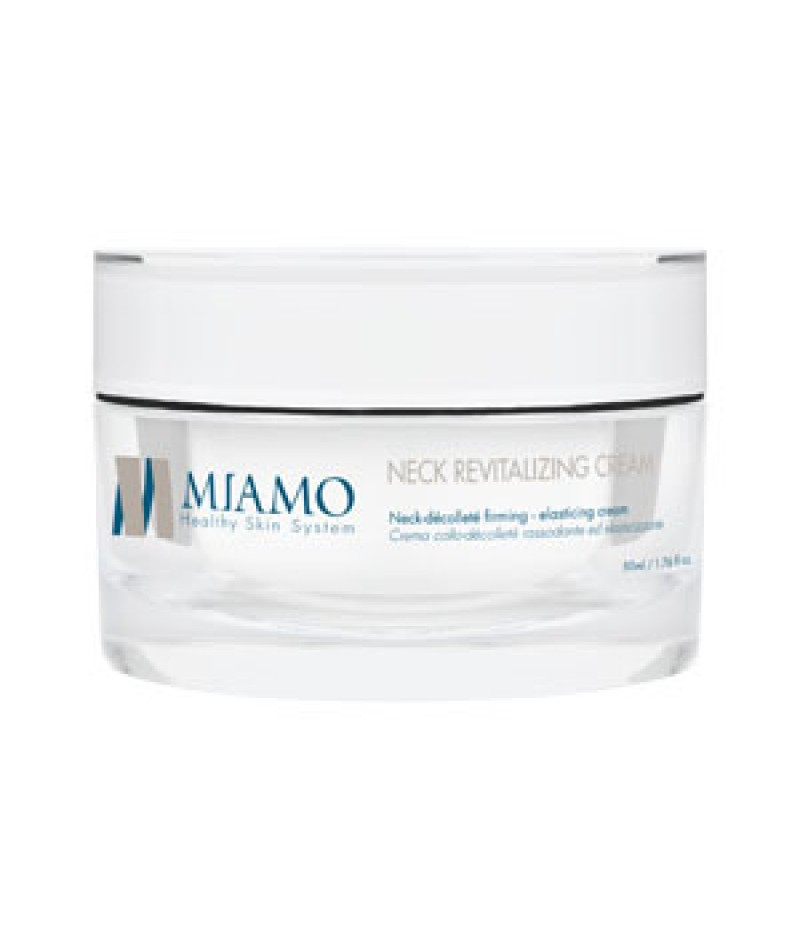 MIAMO LONGEVITY PLUS NECK REVITALIZING CREAM 50 ML CREMA COLLO-DECOLLETE RASSODANTE ELASTICIZZANTE