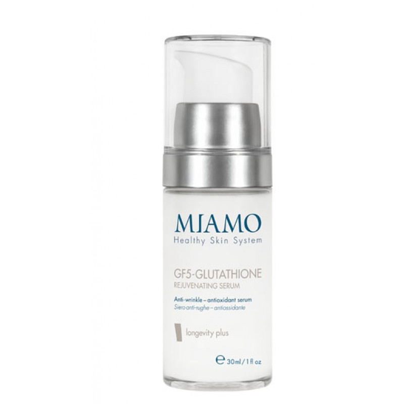 MIAMO LONGEVITY PLUS GF5-GLUTATHIONE REJUVENATING SERUM 30 ML SIERO ANTI-RUGHE ANTIOSSIDANTE