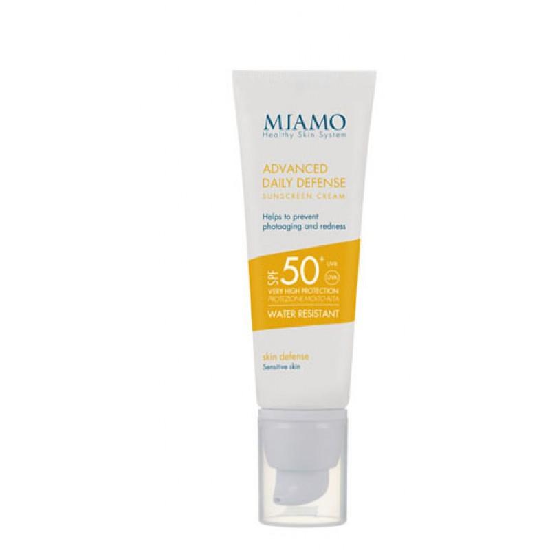 MIAMO SKIN DEFENSE ADVANCED DAILY DEFENSE SUNSCREEN CREAM SPF 50+ 50 ML  ARROSSAMENTO CUTANEO E FOTOINVECCHIAMENTO