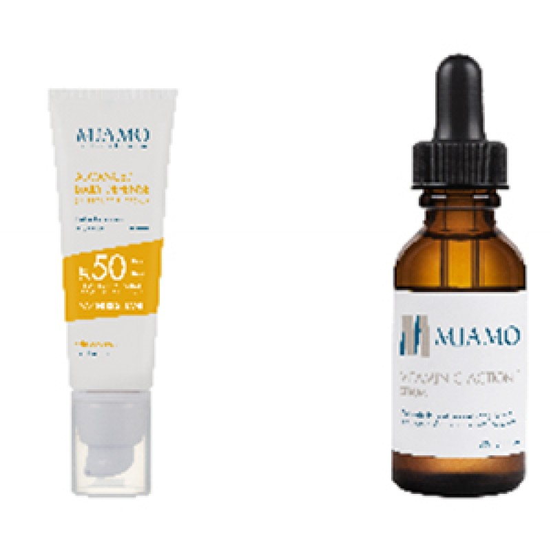MIAMO KIT ADVANCED DAILY DEFENSE SUNSCREEN CREAM SPF 50+ 50 ML + VITAMIN C ACTION+ SERUM 30 ML