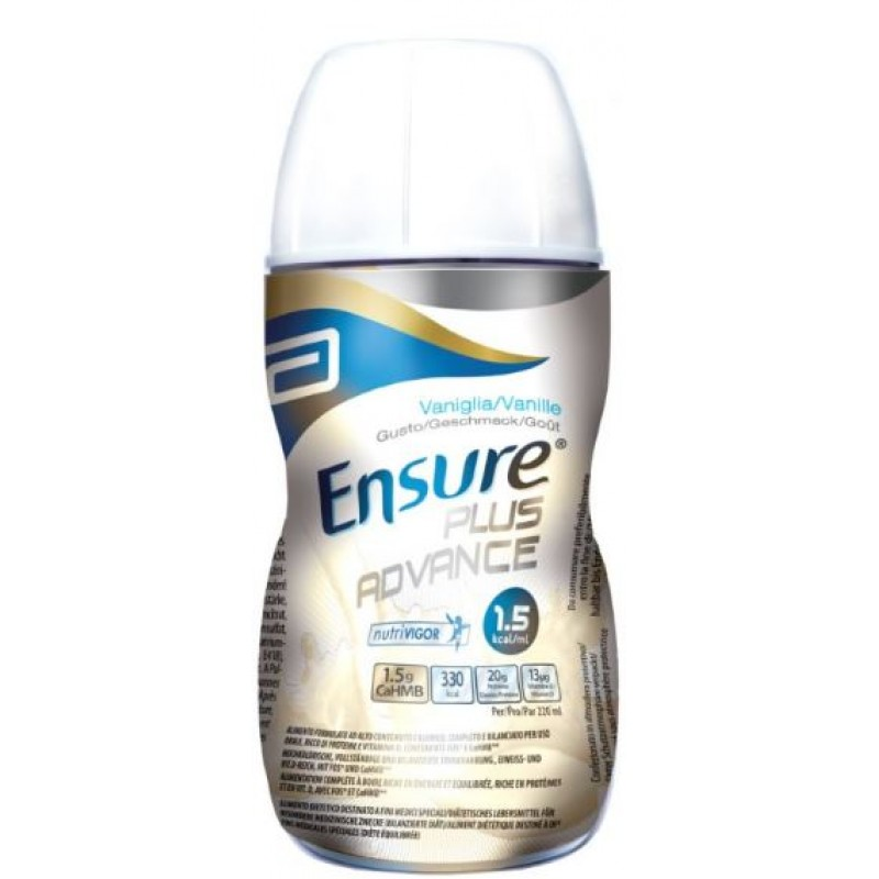 ENSURE PLUS ADVANCE VANIGLIA 4 BOTTIGLIE DA 220 ML