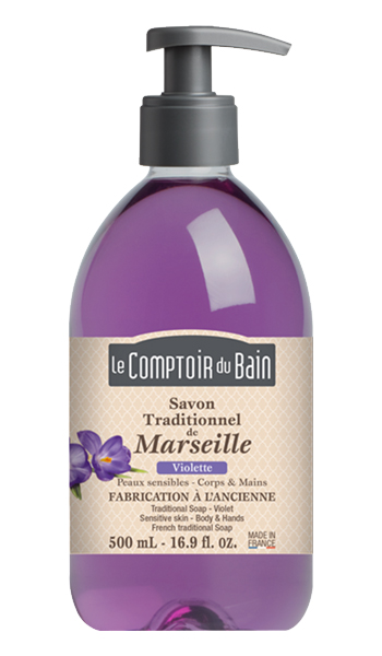 Image of LE COMPTOIR DU BAIN SAPONE LIQUIDO MARSIGLIA VIOLETTA 500 ML 3273818840084