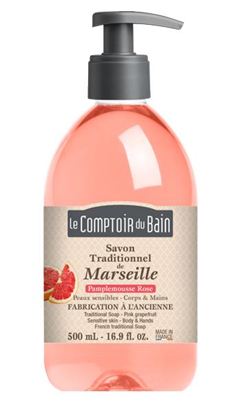Image of LE COMPTOIR DU BAIN SAPONE LIQUIDO MARSIGLIA POMPELMO ROSA 500 ML 3273818840169